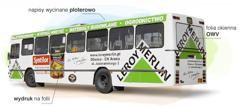 reklama na autobusie - Gliwice